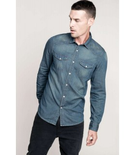 Camasa Barbati Denim Long-Sleeved Kariban