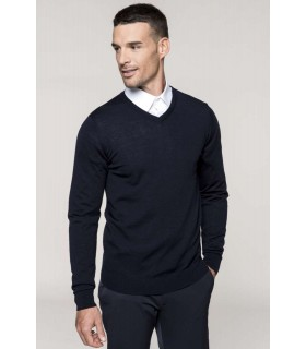 Jumper Barbati Merino Wool V-neck Kariban