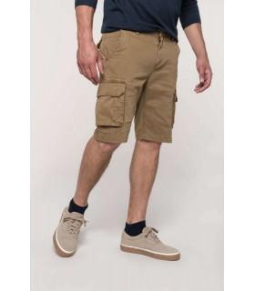 Pantaloni Bermuda Barbati Multipocket Kariban