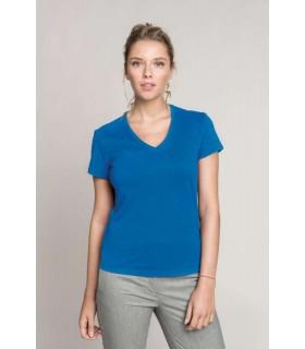 Tricou Femei Kariban Short Sleeve V-neck