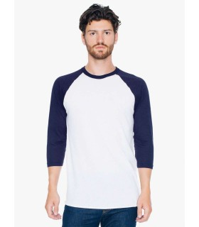 Tricou Unisex American Apparel 3/4 Sleeve Raglan