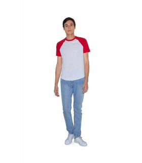 Tricou Unisex American Apparel Short Sleeve Raglan