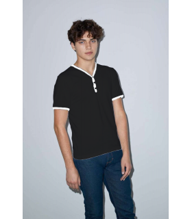 Tricou Poly-Cotton V-Neck Ringer American Apparel