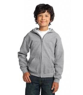 Hanorac pentru copii cu fermoar Gildan Heavy Blend