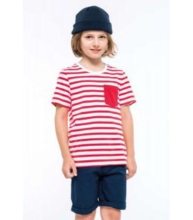 Tricou Copii Striped Sailor With Pocket Kariban